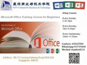Word, Powrpoint, Excel course